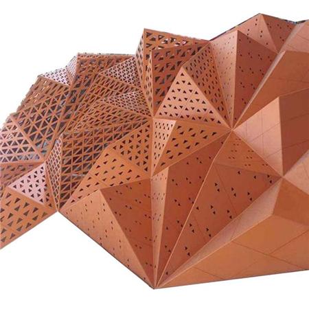 雕花冲孔辊涂铝单板